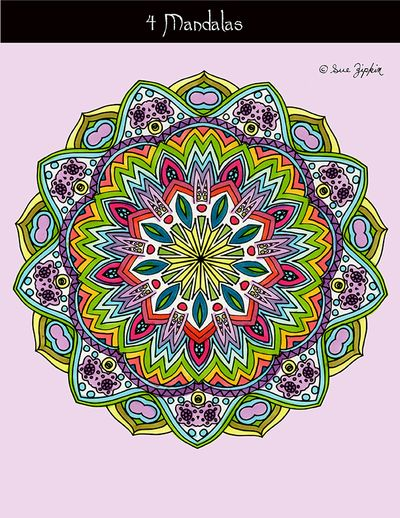 Zipkin mandala pack 2 color